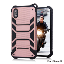 Shockproof Full Body Coverage plastic phone cover for iphone X 3d case