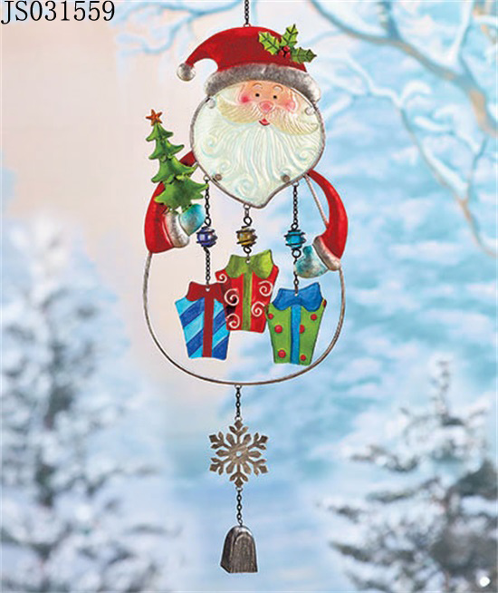 2016 New Christmas decoration, Metal Santa claus hanging with bell
