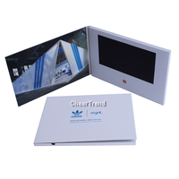 Hot selling lcd card wedding gift invitation video card