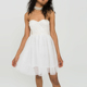 White vestido mesh bride dress princess short wedding dress