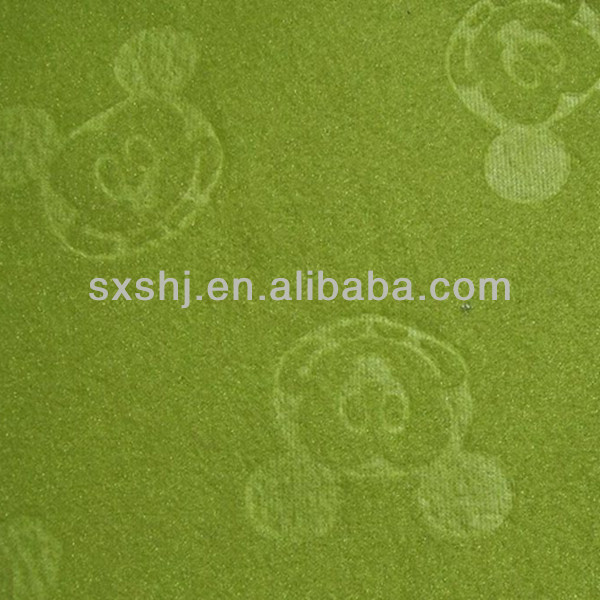 100% Polyester Mickey Mouse Jacquard Polar Fleece Fabric With Fashion Design