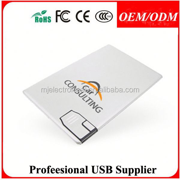 Free sample Best quality wooden credit card usb wholesale