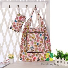 Reuseable foldable shopping Oxford cloth waterproof bag