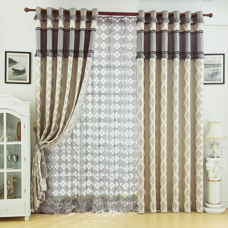 Fancy office window curtains hot sale hotel faux silk curtain