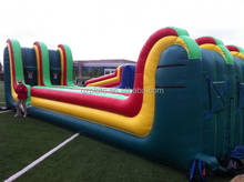 Inflatable bungee run inflatable basketball shooting combo inflatable shooter games