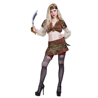 Halloween women Sexy skully Pirate lady Costume dress suit Role Play cosplay party costumes