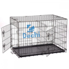 """48"" Extra Large Dog Kennel Crate Collapsible Metal Pet Cage 2 Doors Tray Pan"