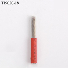 High Quality 18 Pins Red Micro Blading Tattoo Needle Disposable for Manual Pens