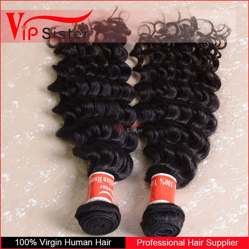 Full cuticle in same direction preventing shedding and tangling 100 human hair weave brands wholesale brazilian deep curly hair