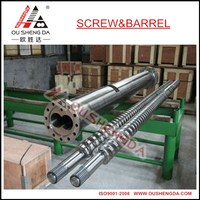 extruder twin screw barrel for recycling PVC PP sheet board pipe