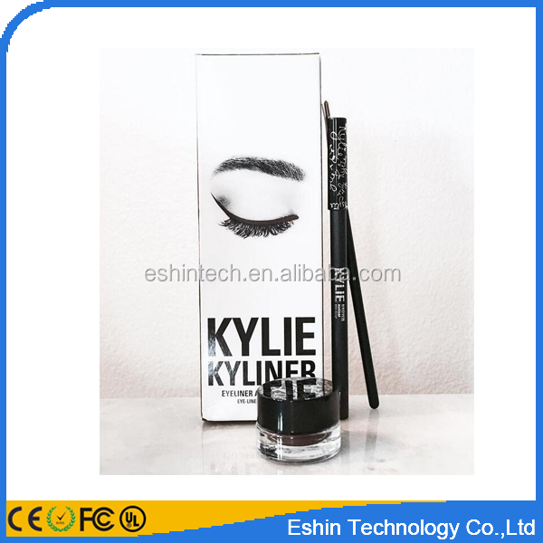 kylie jenner cosmetics kyliner black -brown eyeliner and gel liner