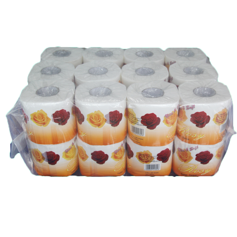 Wholesale 100% pure pulp OEM custom toilet paper for hotel