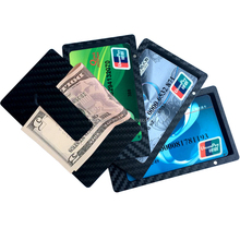 Excellent Design Carbon Fiber Multi-functional Business Card Holder Money Clip, Logo is ok