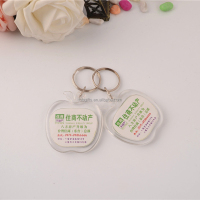 Wholesale teansparent apple keychain/acrylic key chain/keychain neck strap custom