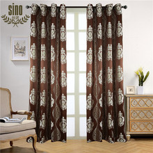 High Quality royal designs jacquard fabric curtain with golden thread