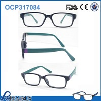 2016 china wholesale optical Sales flexible cheap plastic optical frame ,eyebrow frame reading glasses