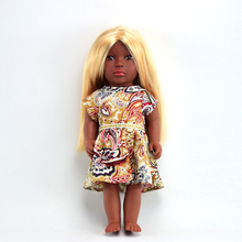 Fashion B-11 mixed-blood Blonde girl black baby toy girl doll for kid
