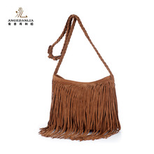 China manufacturer embroidered bags handmade vintage Pu Leather Crossbody bag Ladies Bags with tassel