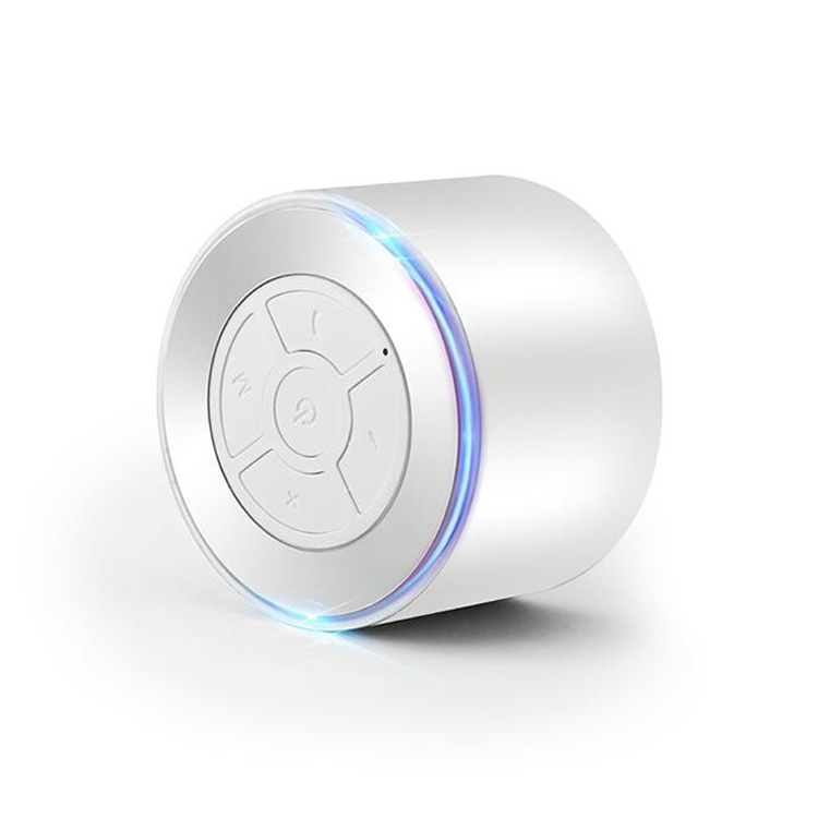 Best Price Metal <strong>Mini</strong> Round Portable A10 Aluminum EWA 3 W Artis Bluetooth Speaker With LED Light