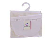 Hook hanger PVC bag for garment underwear clothes packaging