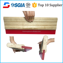 Screen Printing PU Squeegee wooden handle for DVD/CD