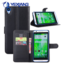 China Manufacturer PU Leather Phone Cover Flip Case For HTC Desire 820