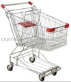 60litre shopping trolley with metal basket