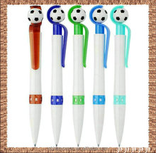 football plastic giant pen/Football or Basketball Topper Twist Type Plastic Ballpoint Pen/sport ball pen with rope/