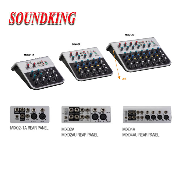 Professional Powered Amplifier Mixers/Mixing Console PM Series
