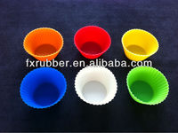 Christmas promotion gift 6 different colors silicone cake mould cookie cup