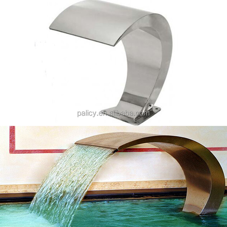 Stainless Steel Swimming Pool Water Blade Waterfall Outdoor Garden Waterfall