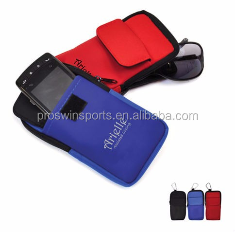 Neoprene free sample phone case with carabiner