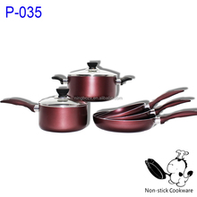 pressed ceramic kitchenware pan german style cookware sets with easy care