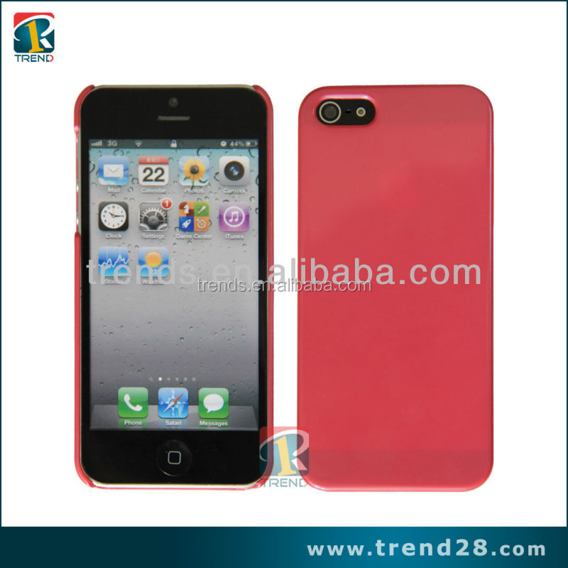 Glossy and bright paintable plastic case for iphone5