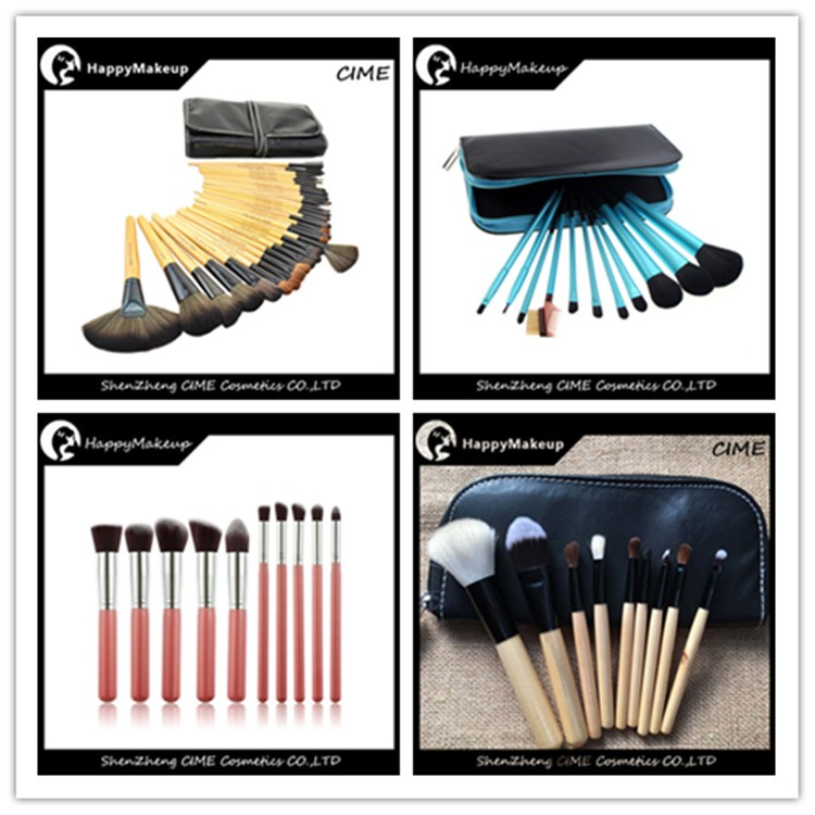 Professional Set Makeup Brushes Goat Hair