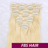 2015 new coming silk straight clip in hair extensions for african american