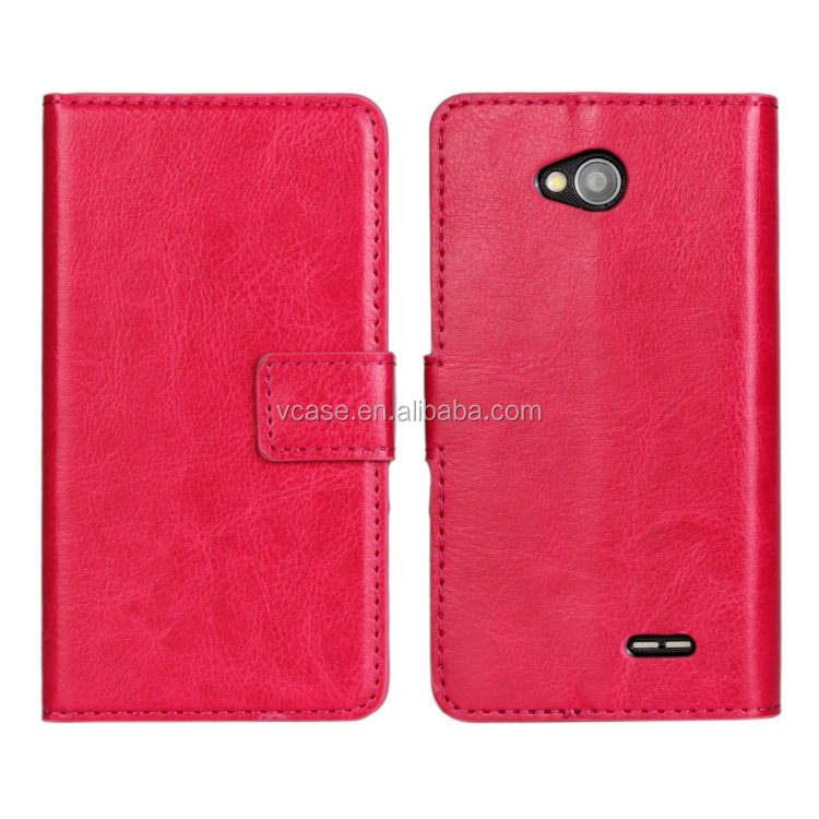 Fashion Book Style Leather Wallet Cell Phone Case for lenovo A606 with Card Holder Design