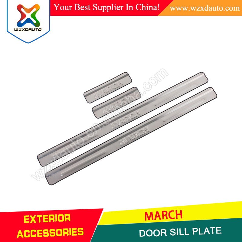 4 DOOR SILL SCUFF PLATE DOOR SILL PLATE COVABS DOOR SILL PALTE FOR MARCH 2010