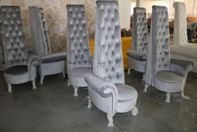 Antique french style small comfortable throne chairs for sale