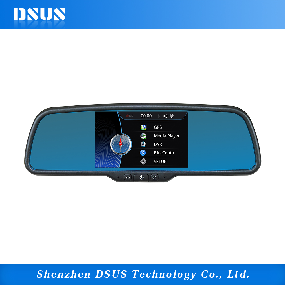 "5"" Full HD Electronic RearView Mirror Win CE System support 2 input camara"