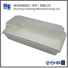 Paper packaging tray for cake packing with clear plastic lid