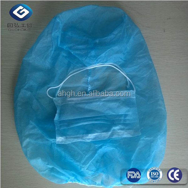 Breathable disposable PP non woven surgeon's hood/ space cap/pirate cap