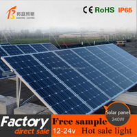 34.6V 240w monoCrystalline Solar panel for solar system