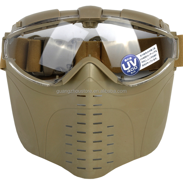 Outdoor safety full face airsoft mask with goggles tactical paintball mask