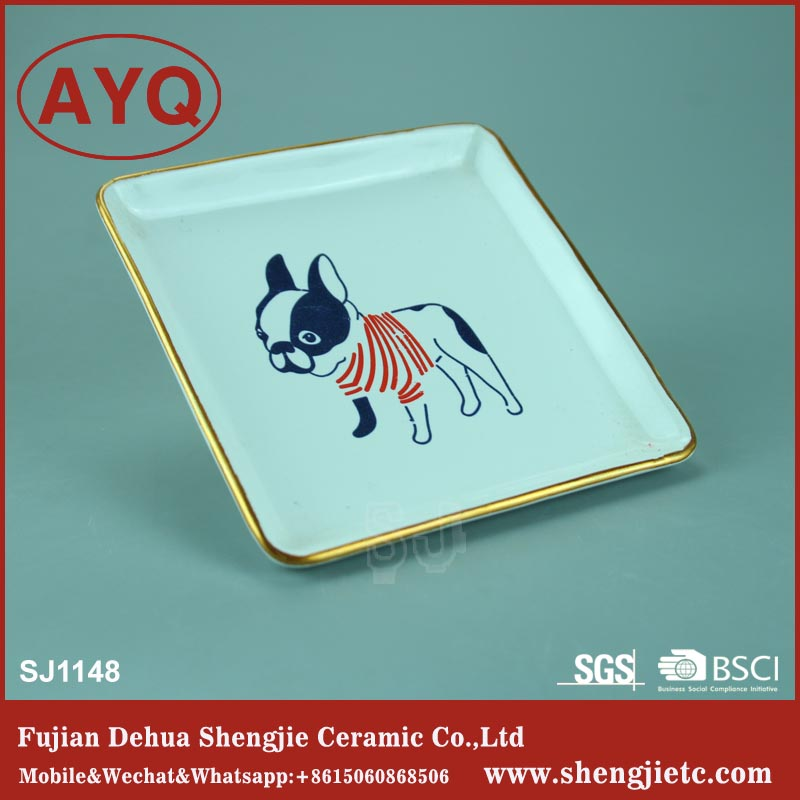 China manufacturer suppliers tableware ceramic ring jewelry dish display tray