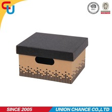 Kraft paper storage box foldable with color printing recyclable and customised for CD/DVD/GROCERY storage /home-office
