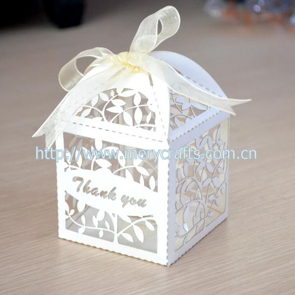 Thank You Wedding Favor Cake Box