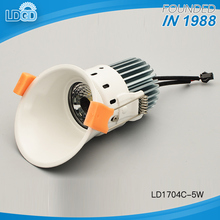 D81mm X H125mm factory sell high quality 5W round COB LED recessed downlight with 80mm cut out