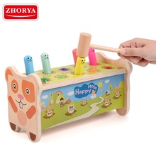Zhorya Wooden play mallet <strong>game</strong> educational whack a mole for kids