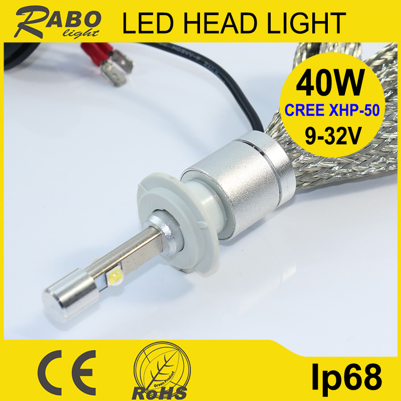 Auto parts glass lens h4 led motorcycle headlight m3